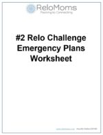 Emergency Plans Worksheet